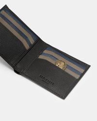Ted Baker - Black Leather Bi-fold Wallet for Men - Lyst