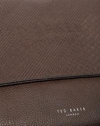 Ted Baker - Brown Embossed Messenger Bag for Men - Lyst