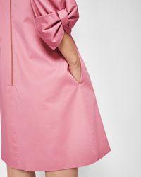Ted Baker Pink Oversized Sleeve Tunic
