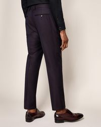 Ted Baker Blue Pashion Jacquard Wool Suit Trousers for men