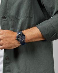 Montre Avec Bracelet En Tissu Et Silicone Ted Baker pour homme en coloris Blue