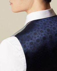 Ted Baker Gray Phormal Wool Waistcoat for men