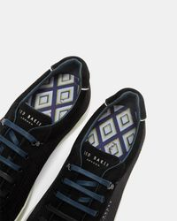 Ted Baker Black Geo Print Trainers for men