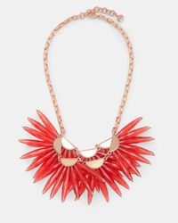 Ted Baker - Red Flare Burst Necklace - Lyst