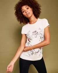Ted Baker - Multicolor Enchanted Dream Fitted T-shirt - Lyst