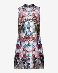 Ted Baker Gray Mirrored Minerals Tunic Dress