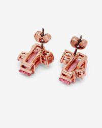 Ted Baker Pink Crystal Baguette Earrings