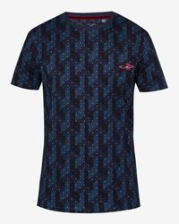 Ted Baker Red Geo Print Cotton T-shirt for men