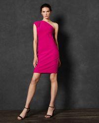 Ted Baker Pink Schulterfreies Plissee-kleid
