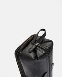 Ted Baker Black Leather Lizard Washbag for men