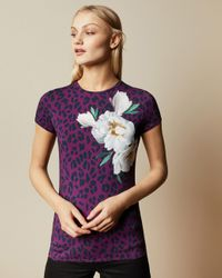 Ted Baker Multicolor Wilderness Fitted T-shirt