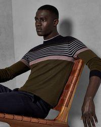 Ted Baker - Multicolor Striped Wool Jumper for Men - Lyst
