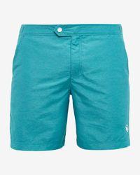 Ted Baker - Blue Oxford Swim Shorts for Men - Lyst