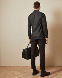 Ted Baker Strukturiertes Hemd in Gray für Herren