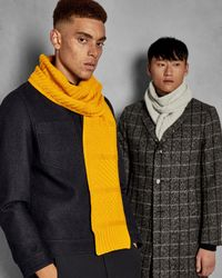 Ted Baker - Yellow Multi Stitch Scarf for Men - Lyst