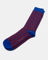 Ted Baker - Blue Spot Sock for Men - Lyst