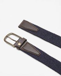 Ted Baker Blue Elastic Woven Leather Belt for men