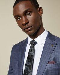 Corbata De Seda Estampado Cigüeña Ted Baker de hombre de color Gray