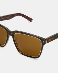 Ted Baker - Brown Rectangular Sunglasses for Men - Lyst