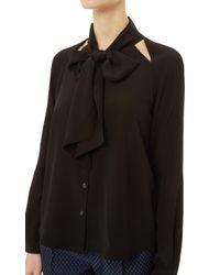 Temperley London Black Purity Bow Shirt