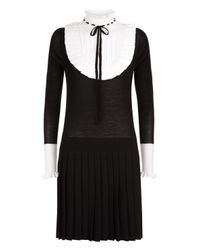 Temperley London Black Sigmund Knit Mini Dress
