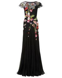 Temperley London Black Aura Lace Dress