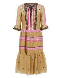 Temperley London Multicolor Poppy Field Tie Dress
