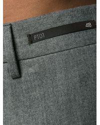 Pantalone Slim Fit In Cotone di PT01 in Blue da Uomo
