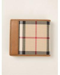 Burberry Brown Haymarket Check Wallet for men
