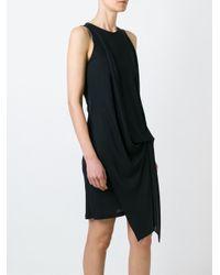 Dondup - Black Gathering Detail Dress - Lyst