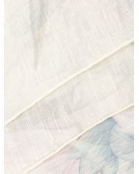 Ferragamo Multicolor Linen Foulard With Print