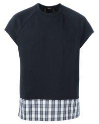 N°21 - Blue Short Sleeves Sweatshirt for Men - Lyst