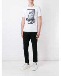 Neil Barrett - Black Printed T-shirt for Men - Lyst