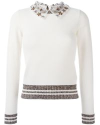Valentino Black Sweater With Embroidered Stars