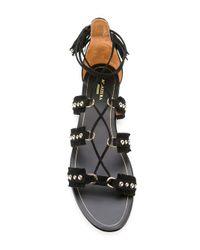 Aquazzura Multicolor Tulum Flat Sandals