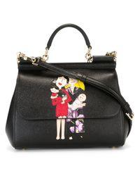 895e0cd8c9 Lyst - Dolce   Gabbana Miss Sicily Medium Bag With Family Print