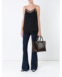 Victoria Beckham - Black Quincy Bag With Croco Print - Lyst