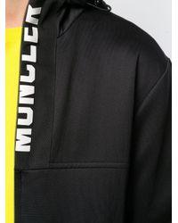 Felpa Con Logo di Moncler in Black da Uomo