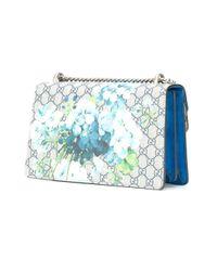 Gucci - Blue Dionysus Blooms GG Supreme Shoulder Bag - Lyst