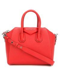 "Givenchy   Red Mini ""antigona"" Bag   Lyst"