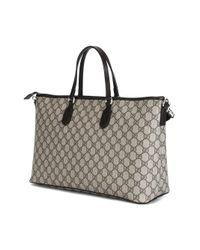 Gucci   Gray GG Supreme Canvas Tote Bag   Lyst