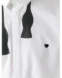 Neil Barrett White Bow Tie Shirt for men