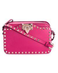 Valentino | Pink Rockstud Leather Cross-Body Bag  | Lyst
