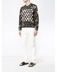 Valentino - Green Camouflage And Stars Sweatshirt for Men - Lyst