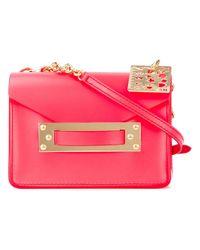 Sophie Hulme Red Camera Crossbody Bag