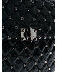 Valentino Black Rockstud Spike Medium Bag