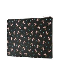 Givenchy Multicolor Hibiscus Coated-canvas Pouch