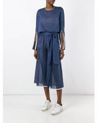 Erika Cavallini Semi Couture - Blue 'pat' Bluse - Lyst