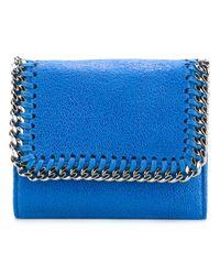 Stella McCartney - Blue Falabella Small Flap Wallet - Lyst