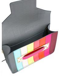 Sophie Hulme Multicolor Mini Envelope Leather Shoulder Bag